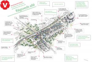 Vänsterpartiet Vantörs vision om Rågsveds allé